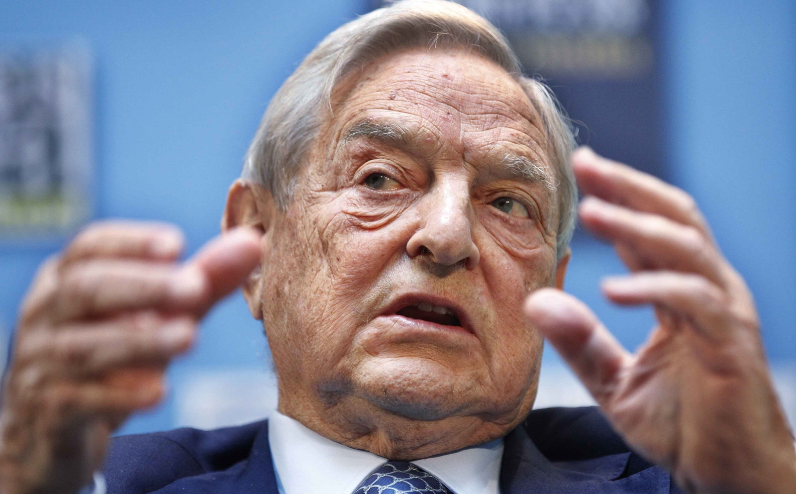 """George Soros, chairman, Soros Fund Management, speaks during a forum """"Charting A New Growth Path for the Euro Zone"""" at the IMF/World Bank annual meetings in Washington, Saturday, Sept. 24, 2011.  (AP Photo Manuel Balce Ceneta)"""