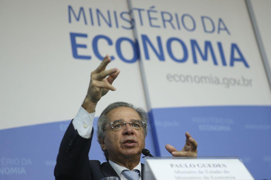O ministro da Economia, Paulo Guedes, abre o seminário Produtividade e Crescimento Econômico no Brasil